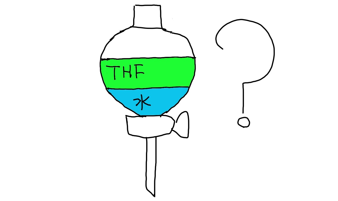 THF 水 分液